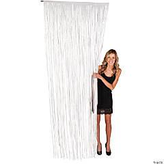 White Fringe Door Curtain
