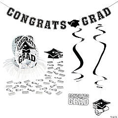 White Graduation Party Room Decorating Kit