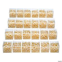White Jelly Bean Favor Kit for 24