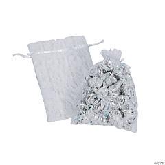 White Lace Drawstring Treat Bags