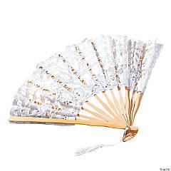 White Lace Folding Hand Fan