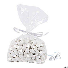 White Polka Dot Cellophane Bags