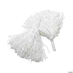 White Team Spirit Cheer Pom-Poms - 12 Pc.