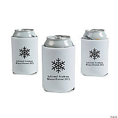 White Winter Wonderland Personalized Can Coolers