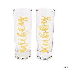 Wifey & Hubby Tall Shot Glasses