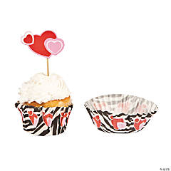 Wild For You Paper Baking Cups with Wooden Picks