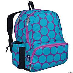 Wildkin Big Dot Aqua 17 Inch Backpack
