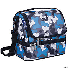 Wildkin Blue Camo Two Compartment Lunch Bag