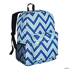 Wildkin Chevron Blue 16 Inch Backpack