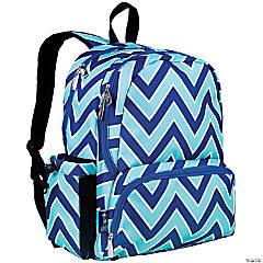Wildkin Chevron Blue 17 Inch Backpack
