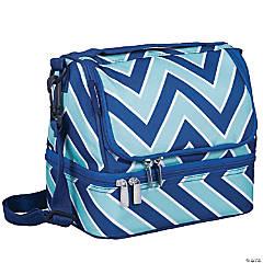 Wildkin Chevron Blue Two Compartment Lunch Bag