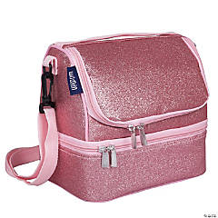 Wildkin Pink Glitter Two Compartment Lunch Bag