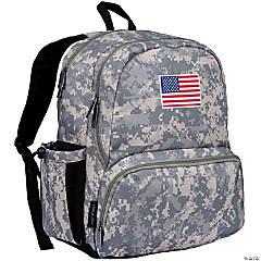 Wildkin State of Mind USA Flag 17 Inch Backpack - Digital Camo