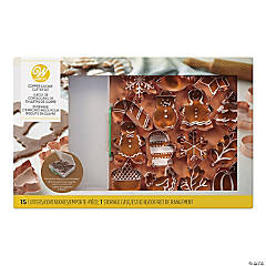 Wilton Copper Cookie Cutter Set - 16 Piece Set
