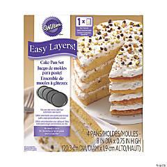 Wilton Easy Layers Cake Pans 4/Pkg