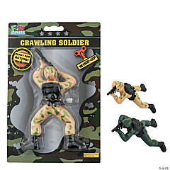 Wind-Up Crawling Soldier Toy