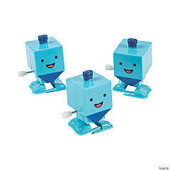 Wind-Up Dreidel Toys