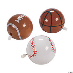 Wind-Up Flipping Sports Ball Toys