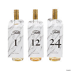 Wine Bottle Tag Table Numbers