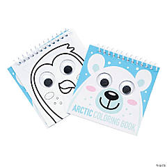 Winter Animals Googly Eyes Spiral Coloring Books