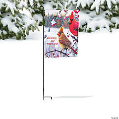 Winter Cardinal Garden Flag