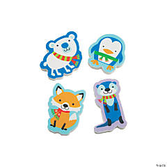 Winter Critter Erasers