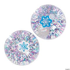 Winter Glitter-Filled Bouncy Balls - 12 Pc.