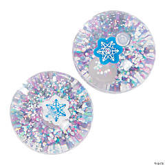 Winter Glitter-Filled Bouncy Balls