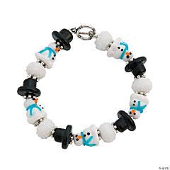 Winter Lampwork Bracelet Idea