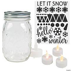 Winter Mason Jar Craft Kit for 24