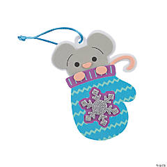 Winter Mouse in Mitten Ornament Craft Kit