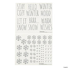 Winter Ornament Decal Sticker Sheets