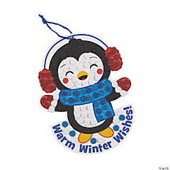 Winter Penguin Glitter Mosaic Craft Kit