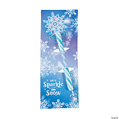 Winter Princess Candy Sticks with Card