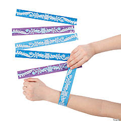 Winter Princess Slap Bracelets