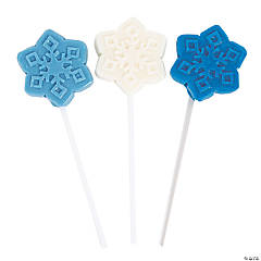 Winter Princess Snowflake Lollipops