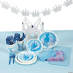 Winter Princess Tableware Kit for 16 Guests