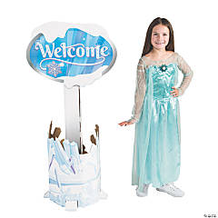 Winter Princess Welcome Sign Stand-Up
