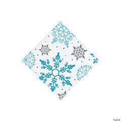 Winter Snowflake Beverage Napkins