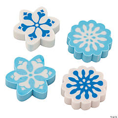 Winter Snowflake Erasers