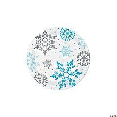 Winter Snowflake Paper Dessert Plates - 8 Ct.