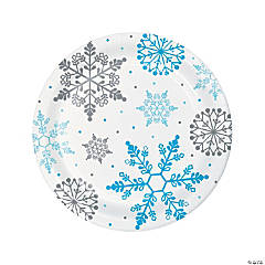 Winter Snowflake Paper Dinner Plates - 8 Ct.