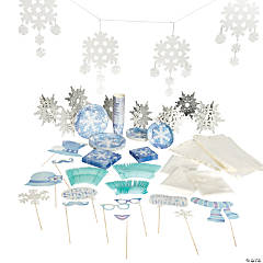 Winter Snowflake Tableware Kit for 24 Guests