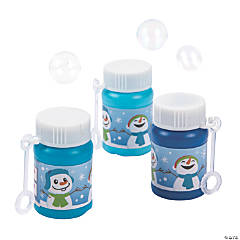 Winter Snowman Bubble Bottles
