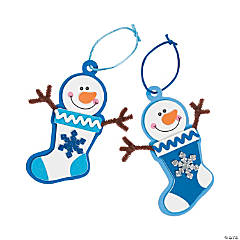 Winter Snowman Stocking Christmas Ornament Craft Kit