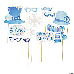 Winter Sparkle Photo Stick Props