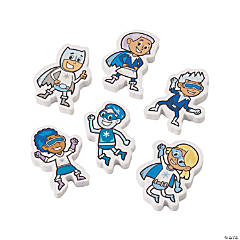 Winter Superhero Erasers