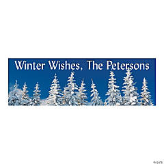 Winter Trees Seasonal Party Custom Banner - Medium