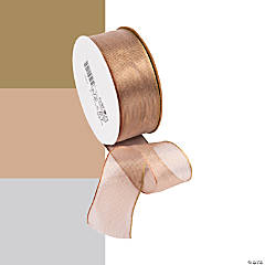 Wired Metallic Sheer Ribbon - 1 1/2