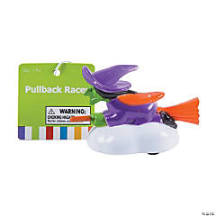 Witch on Broomstick Pull-Back Toys